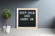 """Letter Board With Message """"kee..."""