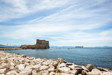 Seen From The West, The Castel Dell 'Ovo ,Egg Castle, Naples, Italy