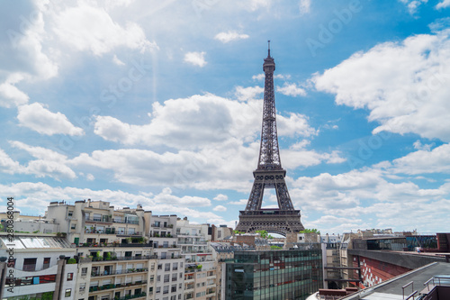 Poster Paris eiffel tour and Paris cityscape