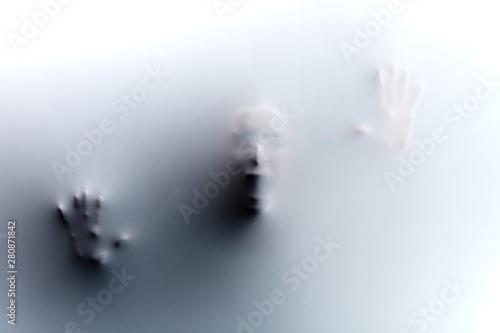 Fotografia, Obraz crying shouting silhoette of man, despair, desperation , hopelessness frustratio