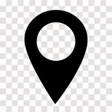 Location Pin Icon On Transpare...