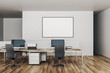 canvas print picture - Modern office with empty poster