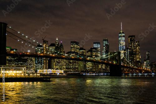 Keuken foto achterwand Verenigde Staten Brooklyn Bridge and Manhattan Skyline At Night