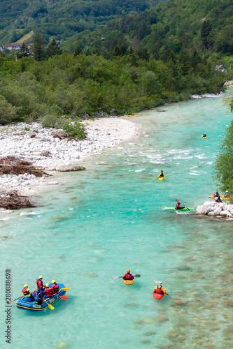 Canvas Prints India Rafting, Soca in Triglav national park, Slovenia