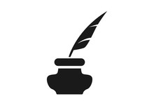 Father Pen With Ink Pot Icon V...