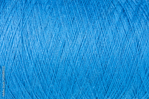 Fotografie, Tablou  background of blue wool on a cone