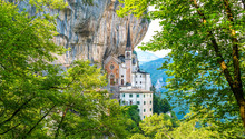 Madonna Della Corona Sanctuary, In The Province Of Verona, Veneto, Italy.