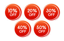 Vector Round Discount Label Fo...