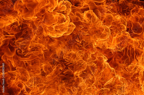 Obraz The explosion of fire at full frame is hot. - fototapety do salonu