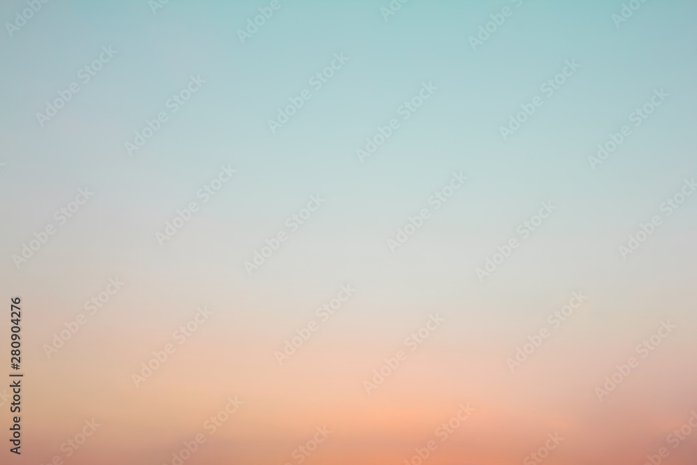 Fototapety, obrazy: Twilight sky with cloud at sunset Abstract background