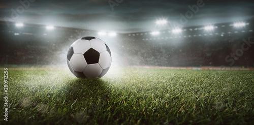 Fototapeta  Fussball in einem Stadion