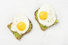 Toast With Avocado And Egg On ...