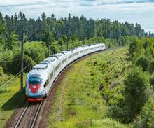 Modern High-speed Train Approa...