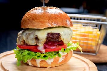 American fast food. Juicy A...