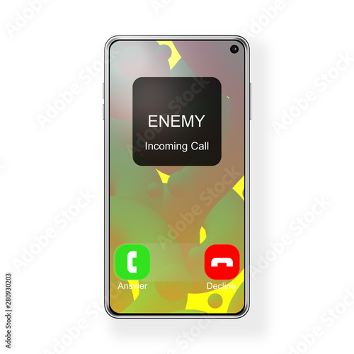 Phone call from enemy symbol Wallpaper Mural