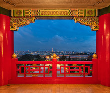 View From The Famous Grand Hotel Of Taipei, Taiwan