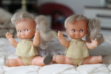 Identical Twin Dolls With Funny Hairstyle