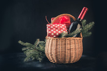 Christmas Gift Hamper With Red...