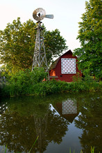 Bonneyville Mill Quilt Barn And Windmill