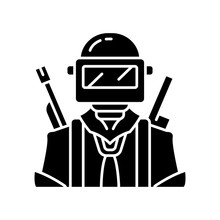 Game Soldier Glyph Icon. Playe...