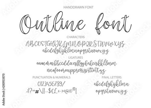 Vector alphabet typeface Fotobehang