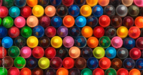 Collection of colorful crayons mixed together Wallpaper Mural
