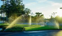 Garden Irrigation Spray System, Taken In Florida