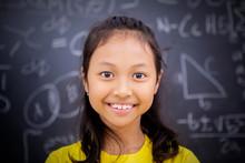Happy Female Student Standing ...