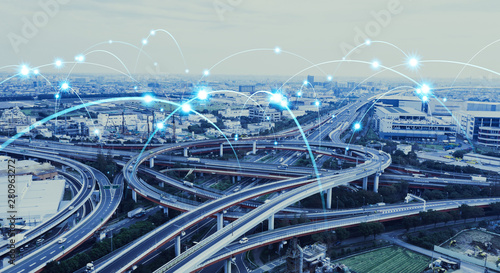 Obraz 交通とネットワーク - fototapety do salonu