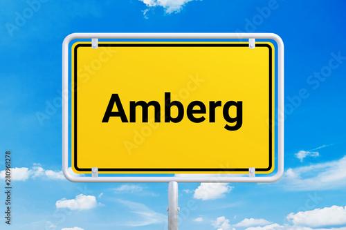 Stadt Amberg Canvas Print
