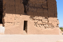Section Of An Ancient Wall Showing 2 Windows At The Casa Grande Ruins National Monument, Coolidge, AZ
