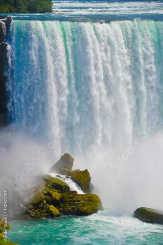 Waterfall on rocks Wall mural