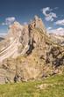 Idyllic Alps with rocky and sandy mountain