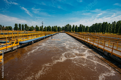 Modern wastewater treatment plant Tablou Canvas