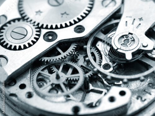 Recess Fitting Macro photography close up macro pic of vintage watch mechanism gears