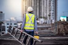 Asian Maintenance Worker Man W...