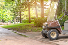 Golf Cart As Hotel/resort Transportation Of Luggage And Bag,