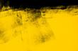 Leinwandbild Motiv yellow and black paint  background texture with brush strokes