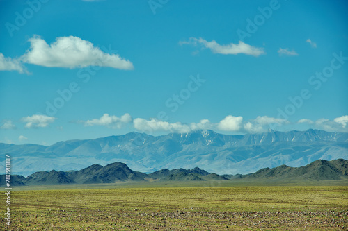 Mountain plateau in the area Zavkhan River Canvas