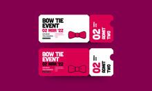 Bow Tie Event Invitation Desig...