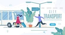 City Transport Online Service Vector Website