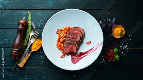 Veal baked with vegetables Wallpaper Mural