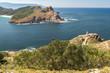 Cies Islands: South Island from Faro Island, National Park Maritime-Terrestrial of the Atlantic Islands, Galicia, Spain