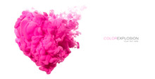 Acrylic Ink In Water. Pink Clo...