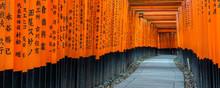 Fushimi Inari Taisha Shrine And Torii Gates, Kyoto, Japan