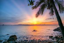 Beautiful Sunrise At Rock Like...