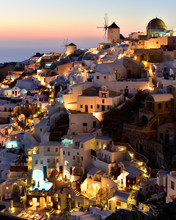 Oia At Sunset, Santorini, Cycl...