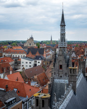 Rooftops Of Bruges, Bruges, West Flanders, Belgium