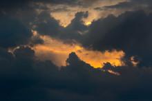 Break In The Clouds. Sun Emerg...