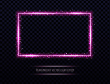 Pink Neon Frame With Light Eff...